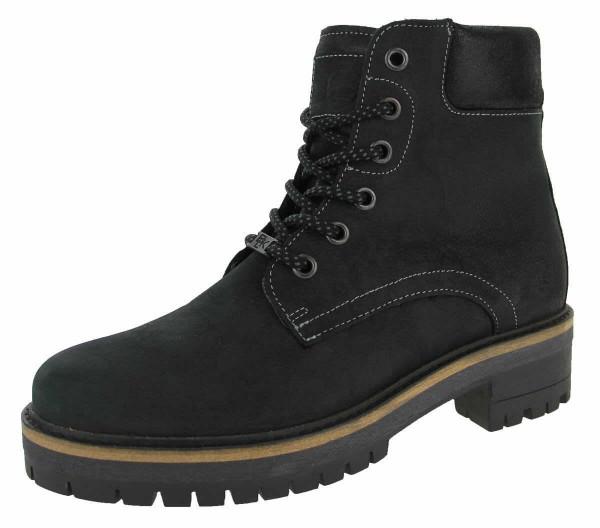 Black Damen Worker Boots - Bild 1